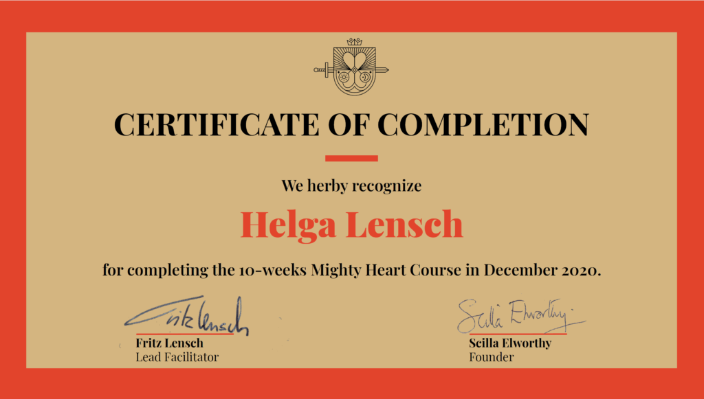 Zertifikat Mighty Heart